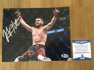 Signed Khabib Nurmagomedov Photo 8x10 UFC BAS Beckett COA The Eagle 4