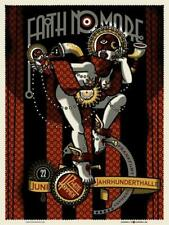 FAITH NO MORE Frankfurt 2009 silkscreened poster by Guy Burwell - MIKE PATTON