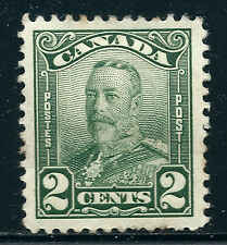 Canada #150(1a) 1928 2 cent green KING GEORGE V SCROLL ISSUE MH CV $3.00