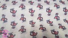 NC State University North Carolina Wolfpack Mr Wuf Cotton Fabric Rare