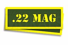 ".22 Mag Ammo Can Labels for Ammunition Case 3"" x 1"" stickers decals 2 PACK -AG"