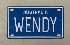 WENDY Novelty Mini Number Plate