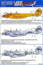 Kits World Decals 1/32 GLOSTER METEOR F.IV The Yellow Peril