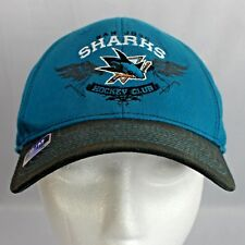 San Jose Sharks Reebok Fitted Ball Cap Small/Medium Turquoise with Black Bill