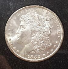 1882 CC MORGAN DOLLAR IN MS+++, RAINBOW TONED REVERSE!!!!!