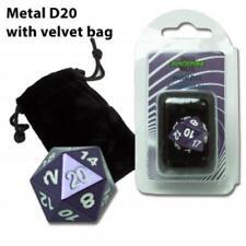 Dado a 20 facce in metallo d20 VIOLET colorazione viola