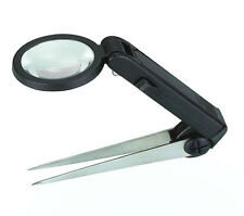 MINI 10X Tweezers Magnifier with LED Magnifying Glass