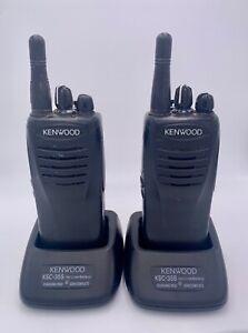(Set of 2) Kenwood TK-3402U16P 16 Channel Portable Two-way UHF Radios