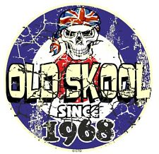 Distressed Aged OLD SKOOL Since 1968 Mod Style Target Motorcycle car sticker