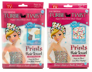 Turbie Twist Microfiber Hair Towel Wrap [2 Pack] – The Original Microfiber Hair
