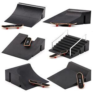 Mini Skatepark Park Ramp for Finger Board Skateboard Parts Set Kids Toy Gift UK