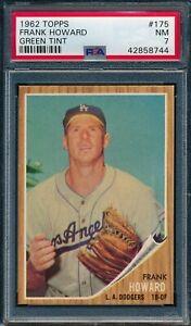 1962 Topps Set Break # 175 Frank Howard GREEN TINT PSA 7 *OBGcards*