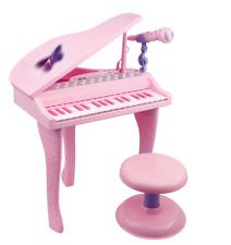 per bambini Rosa PIANOFORTE A CODA elettronico tastiera & SGABELLO MICROFONO