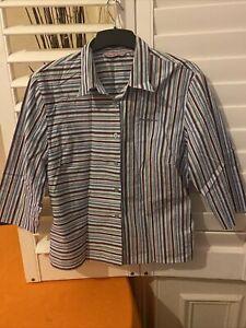 Ben Sherman Striped Shirt/blouse Size 16