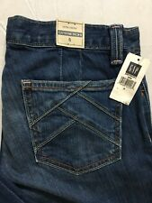 Gap Blue Jeans Womens Size 6 30x32 Stretch Bootcut Ultra Low Rise Distressed NWT