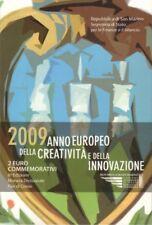 2 EURO COMMEMORATIVI SAN MARINO 2009 CREATIVITA' e INNOVAZIONE - COIN FOLDER