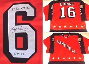 KINGS MARCEL DIONNE AUTOGRAPHED ALL-STAR JERSEY W/ 8TH TIME ALL-STAR HOF 92