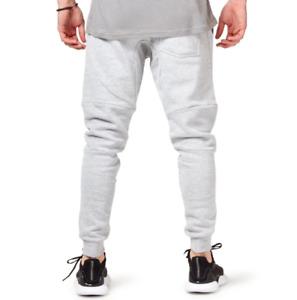 Saucony men's tech fleece light grey track pants size large