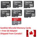 SanDisk 1GB 2GB 4GB 8GB 16GB 32GB 64GB MicroSD Micro SD Memory Card LOT CDN $