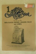 #1 The Coin Slot Magazine, Mills Black Cherry, Golden Falls, Jewell R M Bueschel