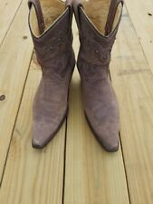 Brown Corral Boots Size 10 Studded Short Taupe Distressed  Western Calves
