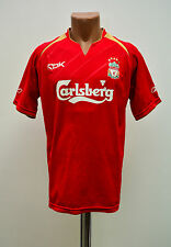 SIZE S LIVERPOOL ENGLAND 2005/2006 HOME FOOTBALL SHIRT JERSEY REEBOK
