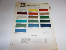 1972 DODGE TRUCK RINSHED-MASON PAINT CHIPS