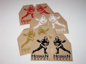 HEISMAN TROPHY Football Helmet Decals - ONE (1) Pair Emblems FULL Size