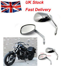 UNIVERSAL 10MM CHROME MOTORCYCLE REARVIEW SIDE WING MIRRORS MOTORBIKE/BIKE PAIR