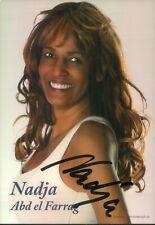 Handsignierte Autogrammkarte von Nadja abd el Farrag - NADDEL