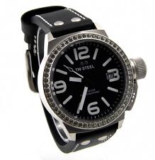 TW STEEL TW37 Canteen Style Damen Uhr Edelstahl schwarz silber Zirkonia > > NEU