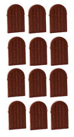 ☀️NEW LEGO X12 Reddish Brown Window 1 x 2 x 2 2/3 Shutter w/ Rounded Top Castle