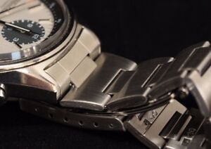 Bracelet w end links for Seiko 6138-8020 stainless steel chronograph Panda