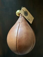 Retro Reborn vintage Brown Leather Inflatable boxing Speed ball