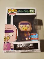 Pop Rick & Morty Gearhead #438 + PROTECTOR 2018 Funko Fall Convention Exclusive