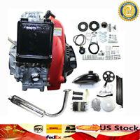 4 Stroke 49CC Gas Petrol DIY Bicycle Bike Engine Motor Kit Scooter 8500 Cooling