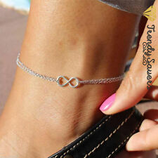Women Elegant Silver Plated Double Layer Anklet Ankle Bracelet