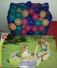 KIDS BALL PIT POOL TENT + 100x PLAY BALLS INCLUDED INDOOR OUTDOOR SET ONLY £10