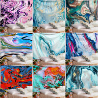Beach Towel Gouache Tapestry Psychedelic Art Marble Swirl Wall Hanging Yoga Mat
