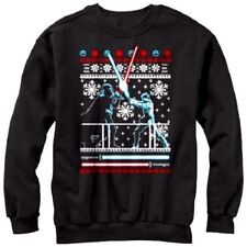 Mens STAR WARS Sz L UGLY Christmas SWEATER Sweatshirt Holiday Men's ~ NEW