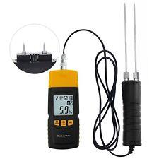Digital Wood Moisture Meter 2~70%/ Humidity Temperature -10~60°C Tester Detector