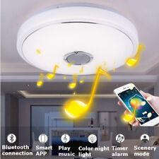 48W 36LED bluetooth Speaker Flush Mount Modern Ceiling Down Light Lamp Fixture