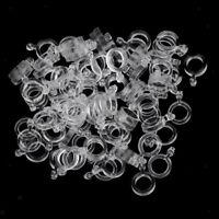 100 Stück Köderbänder aus Gummi klare Super Stretch Pellet-Bänder Angeln
