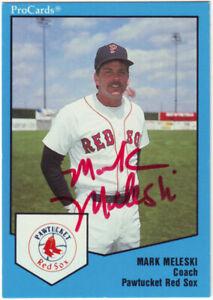 1989 Procards Mark Meleski #696 Auto Autograph - Pawtucket Red Sox Pawsox