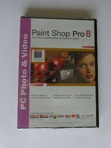 Jasc Paint Shop Pro 8 (New Factory Sealed Retail DVD Case)