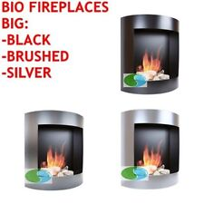 Stainless Steel Modern Fireplaces with Variable Heat Control