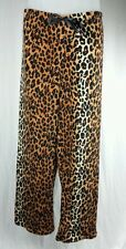 Plush LEOPARD Print Womens Plus Sz 1X PAJAMA PANTS Bobbie Brooks Animal Cheetah