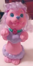 Rare 1991 Vintage Hasbro Shampoodle Bath Toy Purple Hair Dog Puppy Surprise