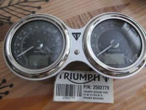 Triumph Bonneville T100 Black instrument Clusters gauge speedometer MPH T2502779