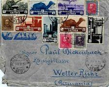 ITALY.1936.ERITREA AIRMAIL COVER,POSTA MILITARE to GERMANIA..Cap't Mario Zeiro.